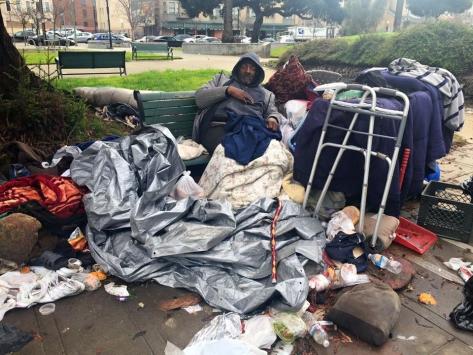 Lamont homeless man Oakland