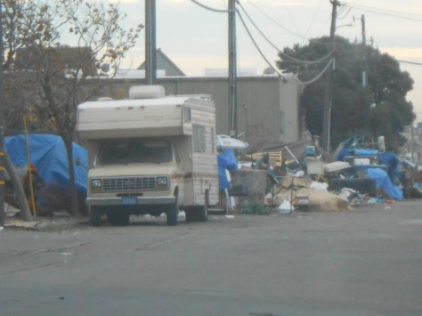 2nd and Page RV and homeless camp