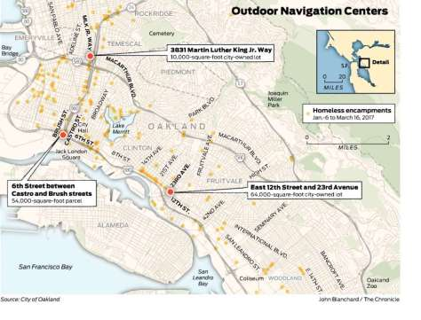 Sanctioned Homeless Encampments Oakland
