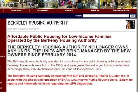 Berkeley no longer owns public housing