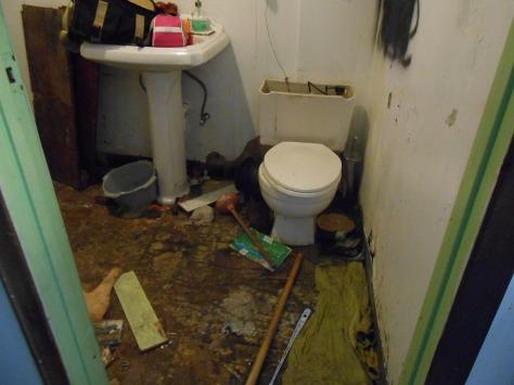 Kaipaka bathroom no flooring