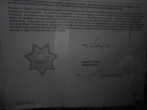 Kaipaka eviction restoration notice 2 up close