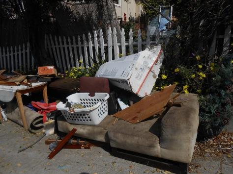 Kaipaka items left on sidewalk March 12 2015