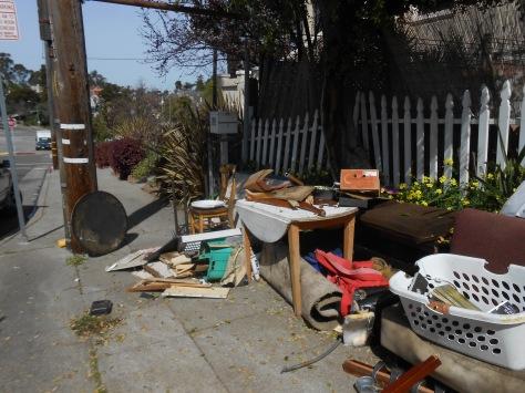 Kaipaka items on sidewalk 2 March 12 2015