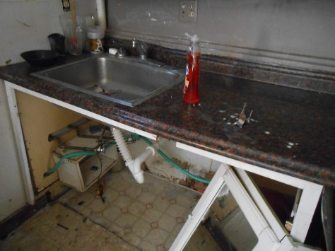 Kaipaka kitchen base cabinet destroyed
