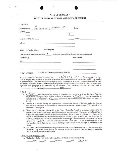 Kaipaka Shelter Plus contract