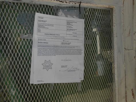Kaipaka sheriff notice on door