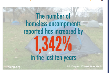 Number of homeless camps increased 1342 percent (2)