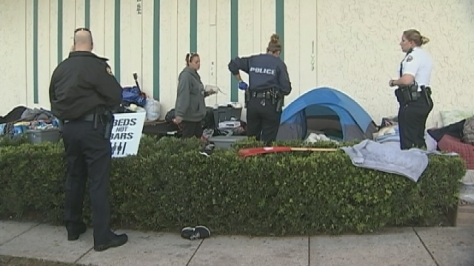 Police dismantle homeless camp