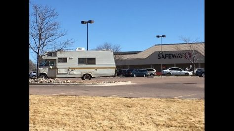 RV squatters in Safeway Lot Colorado Springs