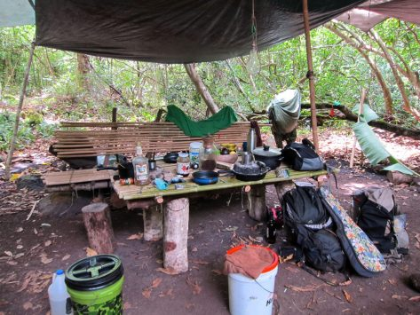 Kalalau camp table