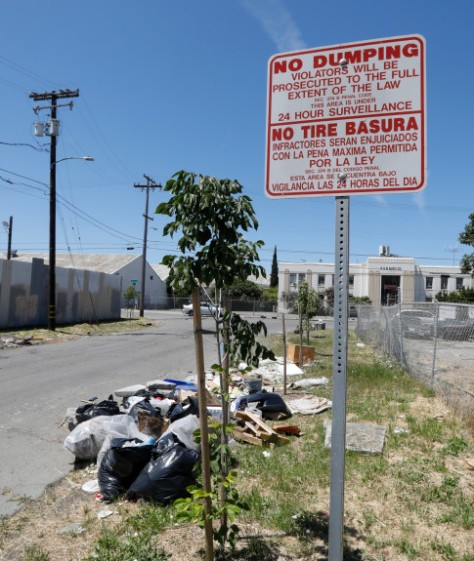 Illegal dumping in Oakland