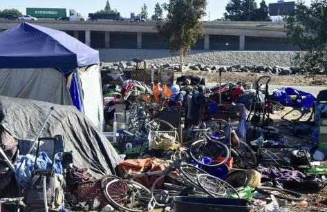 Santa Ana Homeless camp Anaheim