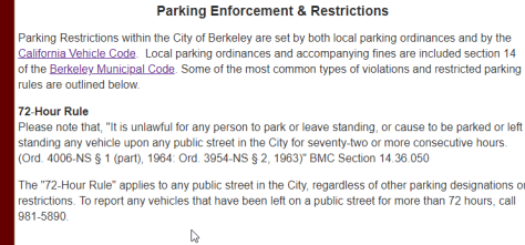 Berkeley city law on 72 hr limit parking (2)