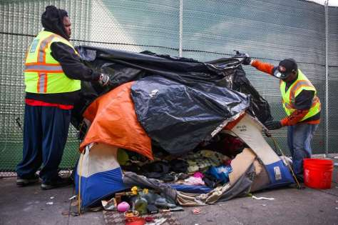 SF removes homeless tent