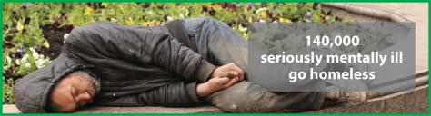 Homeless mentally ill banner
