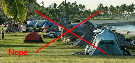 Homeless Tents in hawaii NOPE