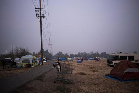Tent city Chico after Paradise fire