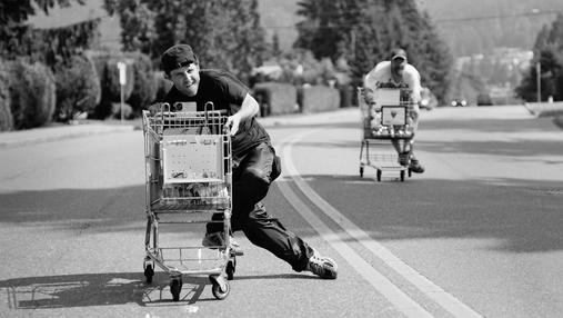 Shopping Cart Races in North Vancouver